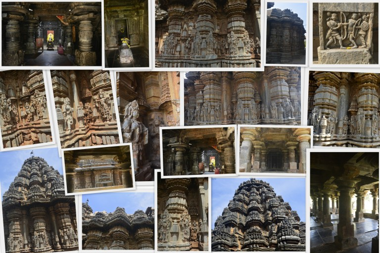 Interior and exterior of Isvara Temple, Arsikere