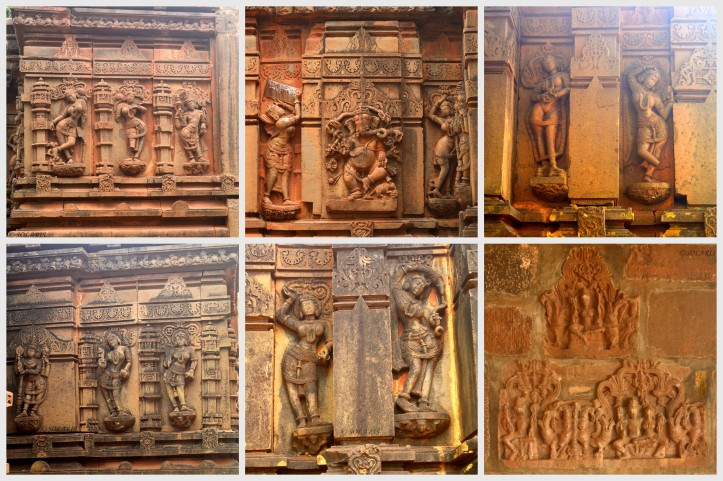 Salabhanjikas / Madanikas on the outer walls of Jalasanghi Temple
