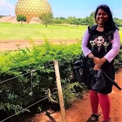 Selfie at Maitrimandir View Point